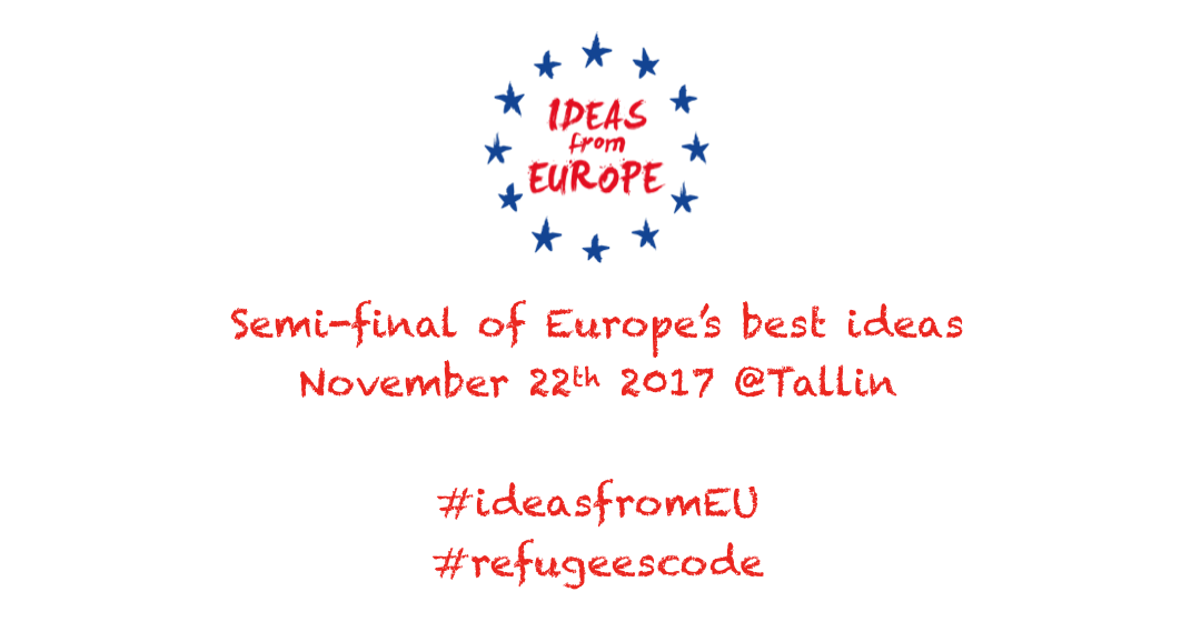 refugees{code} is semi-finalist of Ideas from Europe